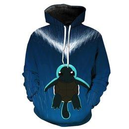 Free Shipping US Size M-5XL High Quality New Fall Fashion Custom 3D Digital Printing Turtle Hooded Sweatshirt Sweater