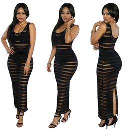 Wholesale 2016 New Fashion Women and Big Girl Europe Style One pieces Gauze Stripe Women Lady Girls Female Clothes Dress Night Club Attracting Dress A
