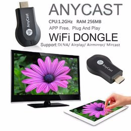 Compra Online Androide dlna palo de televisión-AnyCast M2 PLUS Airplay inalámbrico Wifi Display TV Dongle receptor DLNA Mini TV Stick HD 1080P para Android IOS WINDOWS EZCAST MIRACAST