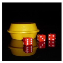 Super Dice with Yellow box (Gimmick) - Trick, card magic,magic tricks,fire,props,dice,comedy,mental magic