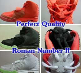 Wholesale Perfect Kanye West shoes Red October Black Solar Red Men Athletic Basketball Shoes With Dust Bags Original Box