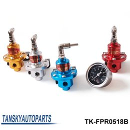 Wholesale Tansy SAR Fuel Pressure Regulator Fuel Regulator red silver blue gold The black gauge with SAR brand TK FPR0518B FS