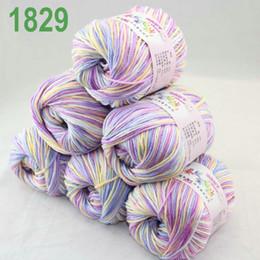 Sale Lot of 6 balls x 50g Cashmere Silk velvet Children Yarn WhiteblueViolet 18-29