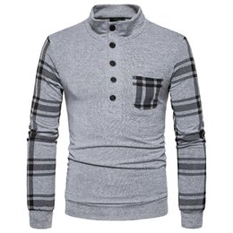 Free Shipping 2017 Autumn and Winter New Men's Long-sleeved Sweater Collar Slim Sweater