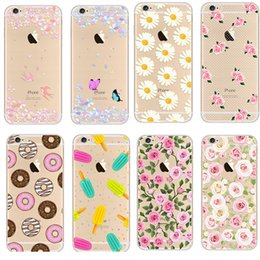 iphone 6 case Newest Fashion Colorful Phone Cases soft TPU for Apple iPhone 5s 6S case Plus case Waterproof Transparent Flower Pattern