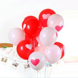 Globos del corazón en venta-10pcs 12inch amor corazón perlas látex globo flotador aire bolas inflables de la boda de Navidad fiesta de cumpleaños decoración de la fiesta