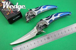 Wholesale WEDGE Master Cutlery Dimitri Patelis MC RD Flipper Hell Blade CR13 Aluminum Fire Pattern Handle China Design Folding Pocket knife