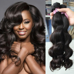 Cheap Hair! 6bundles lot 100% Brazilian Human Hair Weave Wavy Body Wave Natural Color Hair Extensions Free Shipping