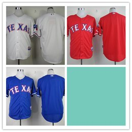 Wholesale Mix Order Stitched Baseball Jerseys Texas Rangers Blank White Red Blue Cheap Home Road MLB Jersey