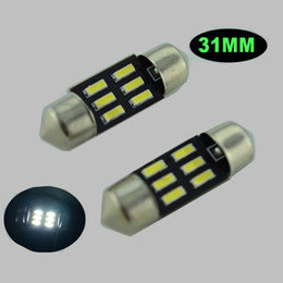 100pcs DC12V C5W 4014 6SMD 31mm White LED Reading roof boot Light Car Auto Interior Map Dome Festoon Lamp License Plate door footwell Bulb