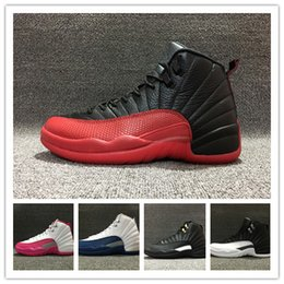 Wholesale 2016 cheap air retro 12s retro 12 flu game the master Valentine mens womens basketball shoes sports shoes sneakers size 36-47