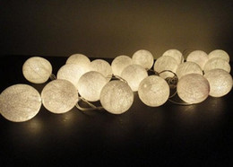 Wholesale Rice White M balls lights cotton ball string light for Christmas festival decoration bar outdoor beautify