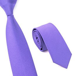 High Quality Solid Narrow Neckwear Solid Mens Skinny Silm Necktie Wedding ties 6cm width Party Ties Men's Ties E-010