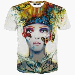 Wholesale tshirt Beauty print t shirt for men women d t shirt short sleeve print beautiful butterfly Animation tshirts summer tops