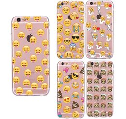 emoji phone case TPU cases for iphone X iPhone 8 7 6 6s plus 5s 5E Galaxy S7 S7 Edge Case soft TPU Slim Protective Back Cover Case GSZ001