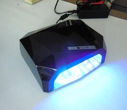 Wholesale Fashion CCFL W LED Light Diamond Shaped Best Curing Nail Dryer Nail Art Lamp Care Machine for UV Gel Nail Polish