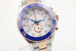 Promotion regarder rose d'or Luxe hommes saphir Crystal 116688 Bleu céramique lunette Rose dorée perpétuel automatique mouvement Sport Montres-bracelets Montres