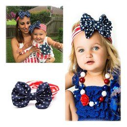 Wholesale Mommy and Me matching Headbands Hot Photo Prop Gift for Mom and Baby Women and Baby bowKnot striped headband Head Wrap Hair Accessories