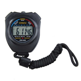 Outdoor Sports Stopwatch Professional Handheld Digital LCD Display Sports Stopwatch Chronograph Counter Timer with Strap H210791