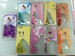 Wholesale 2016new tpu with lady picture Iphone s Plus s7 s7edge Colorful Moving Shining Stars Liquid Glitter Quicksand D Bling Phone Case Cover