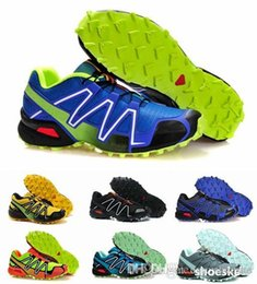 Wholesale New Outdoor Running shoes Men s shoes SPEEDCROSS3 CS Solomon shoes waterproof cross country Sports Running Shoe Size Free Ship