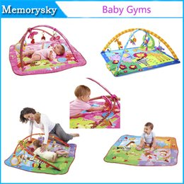 Wholesale New baby gym Tiny Love Lights and Music Gymini Activity Gym educational Infant floor blanket cotton material