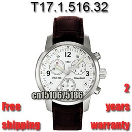 Japan Quartz Movement Genuine Leather Strap Watch Chronograph T17 sport Watch fashion style men watch relojes hombre 2016 T17151632