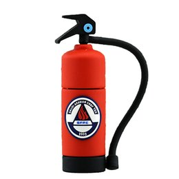 Firefighting extinguisher Shaped PVC USB 2.0 Memory Stick Flash Pen Drive 1GB 2GB 4GB 8GB 16GB