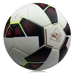 Wholesale 2016 Brand New fashion European league soccer ball Slip PU Size Football ball
