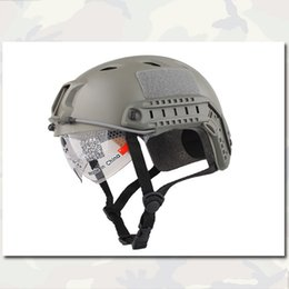 Wholesale FAST Helmet With Protective Goggle Emerson Base Jump Airsoft Bicycle Cycling Helmet FG BJ Type