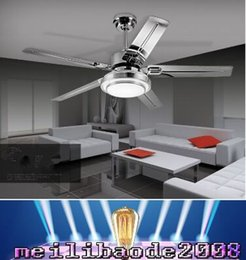 Wholesale NEW quot Remote Control Ceiling Fans With Lights Modern LED Fashion Lights Stainless Steel Wing Fan Lights For Decorative MYY