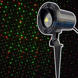 Outdoor Christmas Laser Lights Red Green Waterproof Static Firefly Light projector Holiday Garden law 110v elf light projector