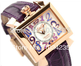Wholesale 2016 GAGA Personality square gaga watch fashion leather belt quartz ladies watch