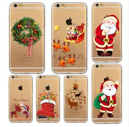 Wholesale 2017 New Hot Sale Christmas Day Santa Claus Christmas tree Series Phone Case For iPhone s Cute Ultra Thin Clear Soft TPU Capa