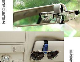 Wholesale 2pcs Vehicle Visor Glasses Ticket Clip Holder At Auto Car Sun Visor Eye Sunglasses Hold Free Shipment