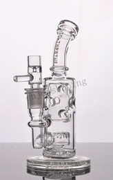 Newest Thick Glass Bongs Fab Egg Recycler Oil Rigs Bong Glass Water Pipes Smoking Pipe 2 Function Glass Pipe 14 mm Joint Bowl