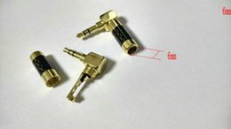 Wholesale 1pcs Gold plated mm Stereo Audio Right Angle degree Adapter soldering