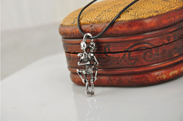 New 2016 Men Infinity Tibet Silver Black Skull Pendant Chain Necklace love To die together free shipping