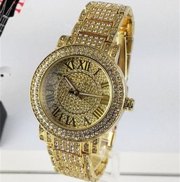 Wholesale New fashion All over the sky stars Luxury Crystal Diamond Quartz Watch Casual Full Steel Rome Word Dial Style Men woman Wristwatches
