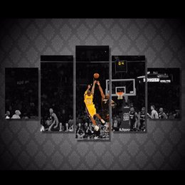 Wholesale 5 Panel HD Printed Basketball shooting game Painting on canvas room decoration print poster picture canvas