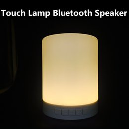 Portable Wireless Bluetooth Speaker Smart Touch Lamp Speaker Table Lamp Decor LED Dimmable Night Light for Mobile Phone Support TF card