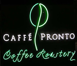 "Cafee Pronto Cafee Roaster's Neon Sign Custom Handmade Real Glass Tube Store Bar Pub Advertising Display Coffee Cafeteria Neon Signs 24""X20"""