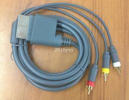Acheter en ligne Câbles xbox av-Grey HD TV Component VGA HDTV Composite RCA AV Câbles vidéo pour Microsoft xbox 360 AV Cables 1.8M Livraison gratuite