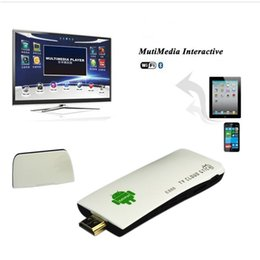 Descuento androide dlna palo de televisión XBMC Bluetooth 4.0 Androide 4.4 TV Palillo Amlogic S805 Quad Núcleo 1.5GHz 2G / 8G H.265 Miracast DLNA WiFi OTG Dongle portable de HDMI TV