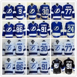 Wholesale Ice Hockey Tampa Bay Lightning Jerseys Steven Stamkos Tyler Johnson Ben Bishop Victor Hedman Nikita Kucherov Jonathan Droui