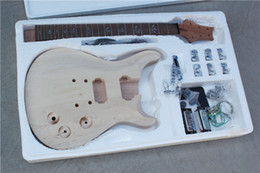 Semi-finished Electric Guitar with Mahogany Body and Neck,Maple Top,Rosewood Fretboard and Can be Customized