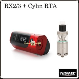 Wholesale Authentic Wismec Reuleaux RX2 Mod Wismec Cylin RTA Tank Atomizer Best Couple Ever Original Group Sale