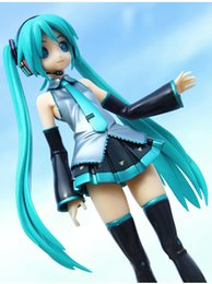 21.5cm 2016 Newest Sexy anime pvc toy standing style figure Hatsune Miku MIKU hand doll model with box gifts