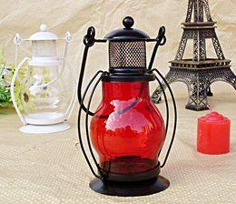 Wholesale Zakka Iron Candlestick Candle Holder Kerosene alcohol lamps Holiday gift Home decoration