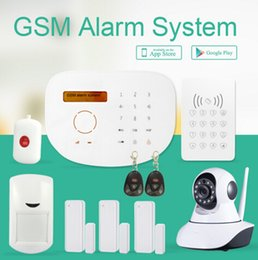 Wholesale Android IOS APP control wireless security home alarm system based in IP camera low cost GSM alarm system GS S2G